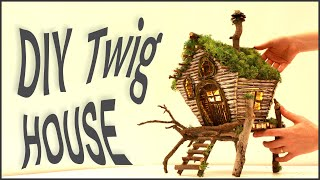 ❣DIY Twig Fairy House Lamp❣