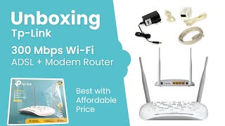 Unboxing Tp-Link TD-W8961ND 300Mbps Wireless N ADSL2 Modem Router