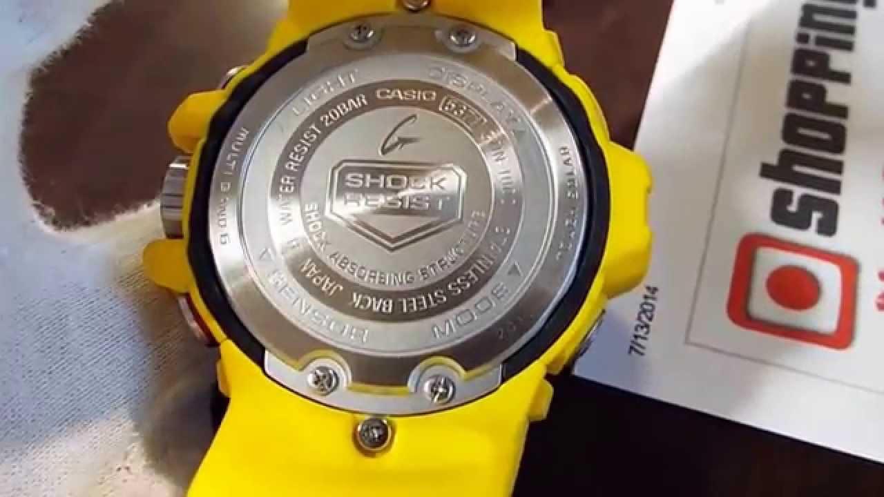 Casio g shock gulfmaster gwn 1000 9a yellow youtube