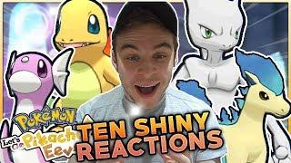 10 BEST SHINY POKEMON REACTIONS! Pokemon Let's Go Pikachu & Let's Go Eevee Shiny Pokemon Montage!