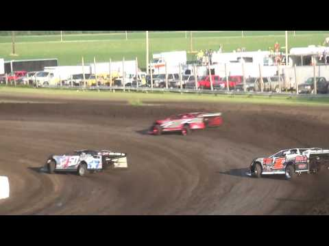 URBANA 5 Memorial Late Model Heat Benton County Speedway 6/11/17