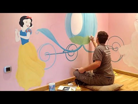 Childrens Mural Wall Painting Time-Lapse