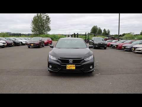 2018 Honda Civic Sport | Crystal Black | JU416405 | Seattle | Sumner | Puyallup |