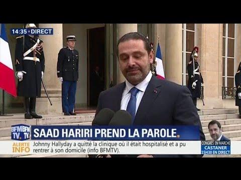 """Le Premier ministre démissionnaire du Liban Saad Hariri """"remercie Emmanuel Macron pour son soutien"""""""