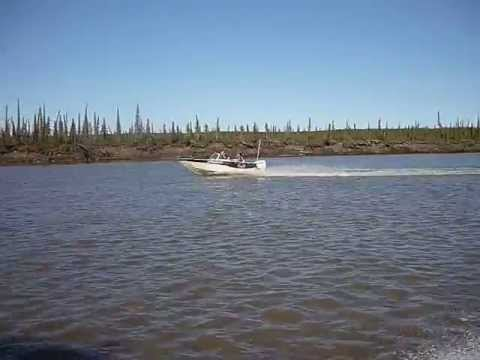 Summer Boating on the Mackenzie River Delta