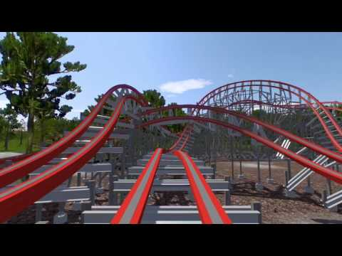 Georgia Cyclone RMC NEW for 2018 Six Flags Over Georgia POV (prediction) NoLimits Coaster 2