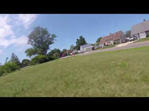 Quick July 4th FPV Quadcopter flight, some gate practice