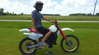This Bike Will KILL You!!! First Ride on Yamaha Yz 490