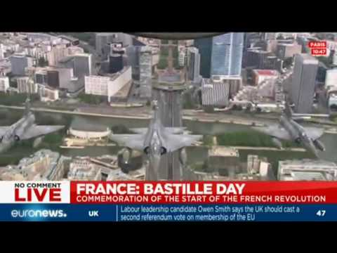 Bastille Day: Military flying display over Paris for the traditional 14 July celebrations