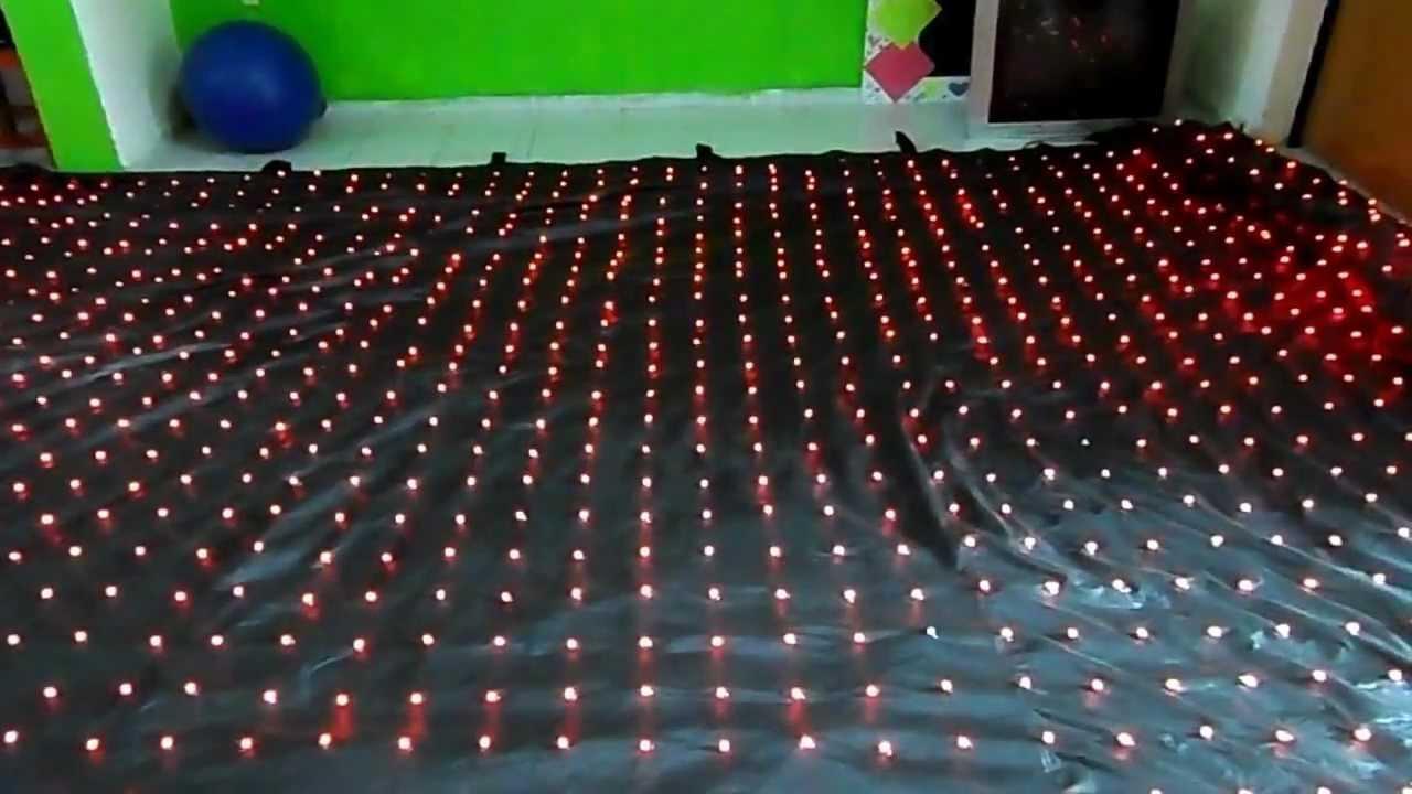 Cortina de leds fabricada en mexico merida yucatan youtube for Cortina de luces led