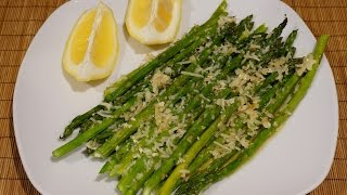 Спаржа запечённая в духовке с чесноком и пармезаном_Baked asparagus with garlic and parmesan