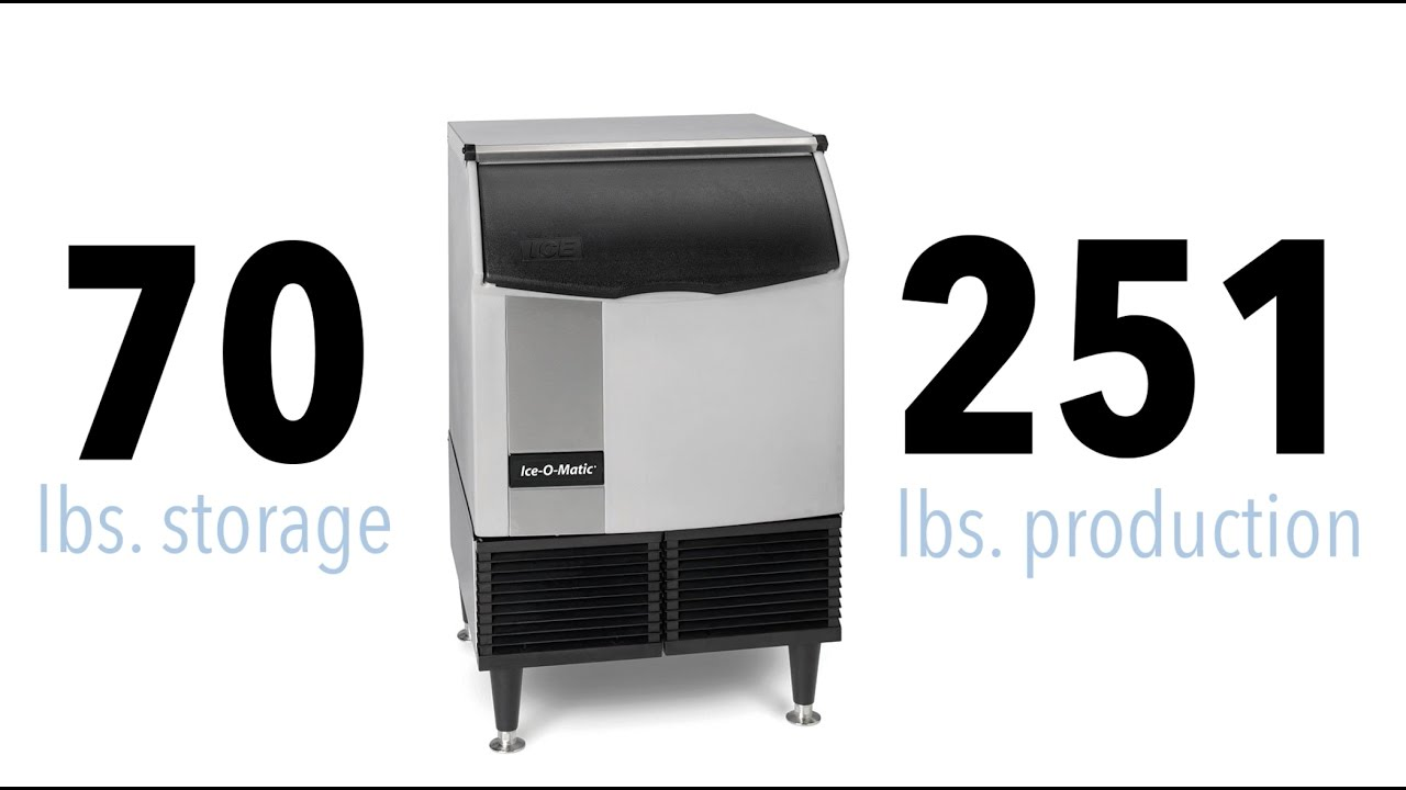 ice o matic iceu220ha 39 h half cube undercounter ice maker 238 lbs day air cooled [ 1280 x 720 Pixel ]