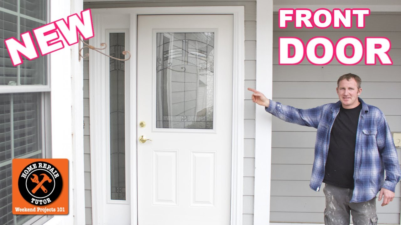 How To Install An Exterior Front Door With Sidelight You