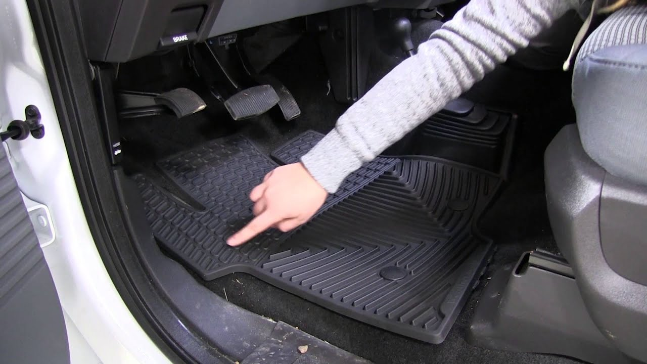Review of the weathertech all weather front floor mats on a 2016 ford f 250 etrailer com youtube