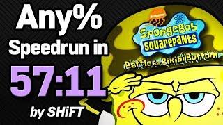 SpongeBob SquarePants: Battle for Bikini Bottom Any% Speedrun in 57:11 (WR on 3/1/2018)