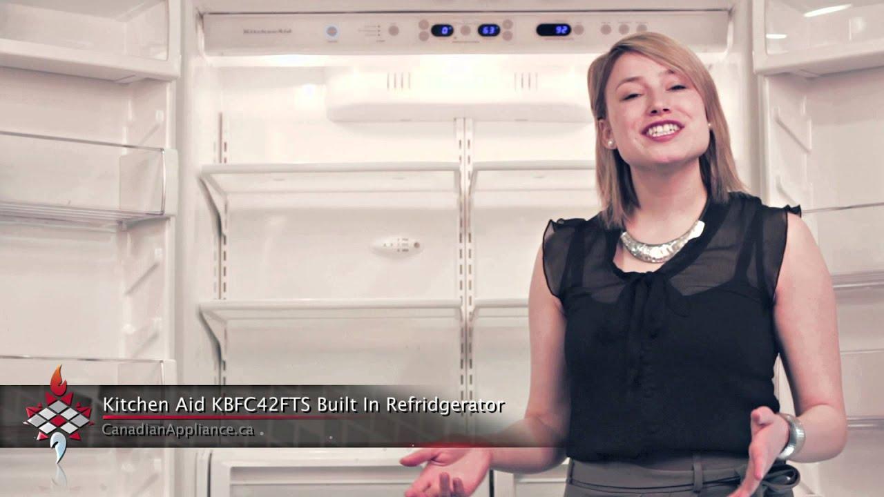 Kitchenaid Kbfc42fts kitchen aid kbfc42fts built in french door refrigerator - youtube