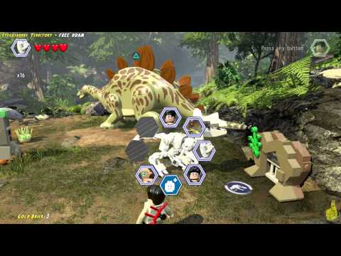 Lego Jurassic World: Stegosaurus Territory FREE ROAM (All Collectibles) - HTG