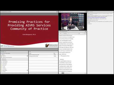 Community of Practice - Promising Practices for Providing AIVRS Services