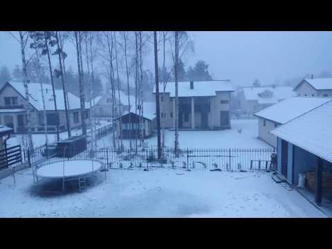 Снегопад в Петрозаводске апрель 2017