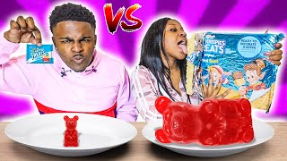 GIANT CANDY VS TINY CANDY CHALLENGE!