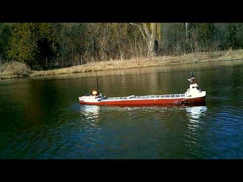 Large 5 ft RC Edmund Fitzgerald - Great Lakes Freighter 100% Scratch Build