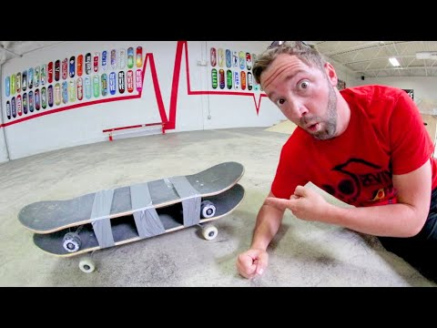 YOU MUST SKATE THE DOUBLE DECKER SKATEBOARD! / Warehouse Wednesday