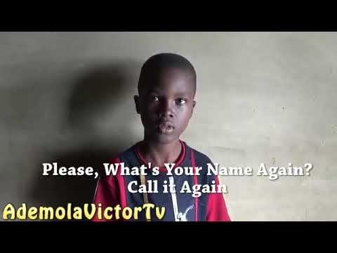 African boy telling his name