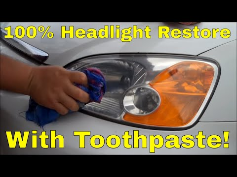 headlight-lens-restore-using-toothpaste!