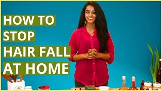 How To STOP & CONTROL HAIR FALL For Women At Home (Natural Remedies)