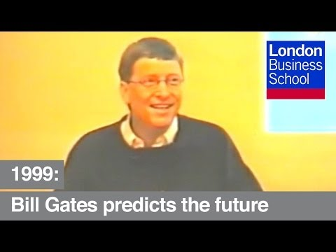 Bill Gates predicts the future of the internet in 1999   London Business School