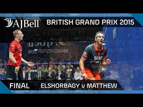 Squash: British Grand Prix 2015 Final Highlights: Elshorbagy v Matthew