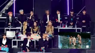 190105 BLACKPINK, iKON reaction to JENNIE 'SOLO' @ GDA 2019 (Original clip in description)