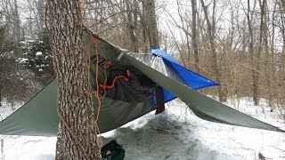 Hammock Camping in a Snowstorm - Part 1