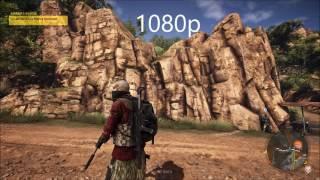 Ghost Recon Wildlands - 4K vs 1080p Comparison