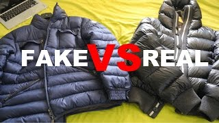 FAKE VS REAL MONCLER SKI JACKET COMPARISON REVIEW ** SIDE BY SIDE **