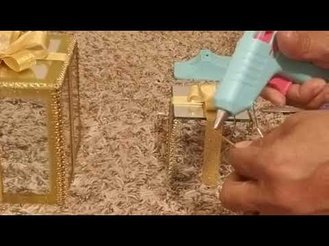 Dollar Tree DIY//🎄🎁Decorative Gold Mirrored Christmas Gift Boxes 🎄🎁