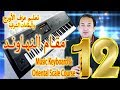 تعليم عزف مقام النهاوند - شرح مقام النهاوند الشرقي | keyboard & Oriental scale12 Nahawand