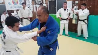 JAPAN OKINAWA JUDO 日本沖繩 伊志嶺柔道部 勝山師範 教授引手 破勢