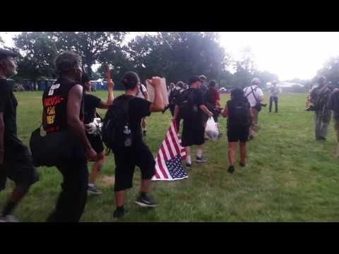 Revolutionary Communist Party drags flag at Philadelphia DNC- 07.25.16