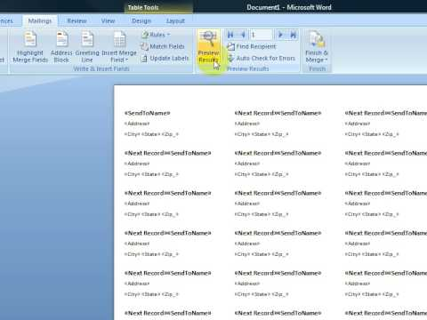 Create Printable Labels With Microsoft Word 2007 - YouTube - make labels in word