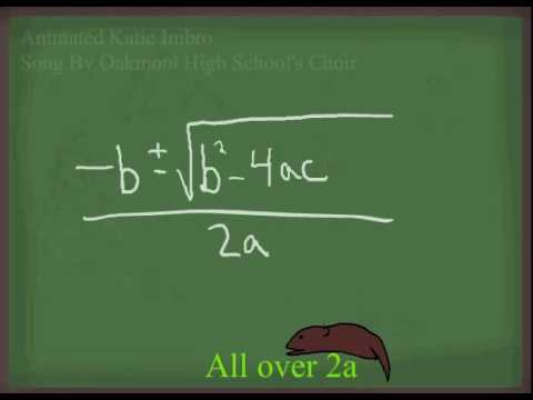Quadratic Formula Pop Goes the Weasel