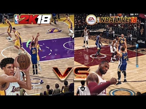 STOP PLAYING!!! NBA LIVE 18 GAMEPLAY VS NBA 2K18 GAMEPLAY! THIS ONE IS A NO BRAINER!