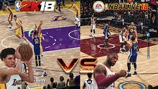 STOP PLAYING!!! NBA LIVE 18 GAMEPLAY VS NBA 2K18 GAMEPLAY! THIS ONE IS A NO BRAINIER!