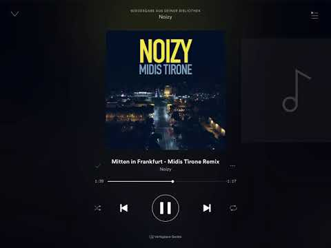 Noizy mitten in Frankfurt. Feat capo