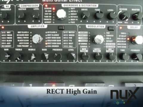 nux 07 modeling guitar effects processor youtube. Black Bedroom Furniture Sets. Home Design Ideas