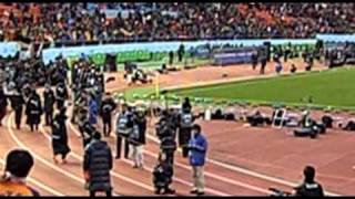2011.1.1 天皇杯決勝 清水-鹿島 試合後の清水エスパルス選手挨拶.