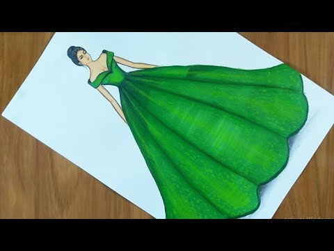 dress-drawing-on-a-girl-|-fashion-illustration-drawing-step-by-step