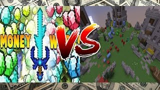 Minecraft: Crazy Money Wars and Mini Walls (extremely close rounds)