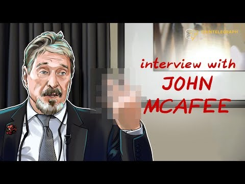 Interview With John McAfee   Cointelegraph