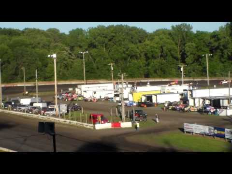 Late Model Heat 1 @ Hamilton County Speedway 06/24/17